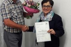 Mitgliederversammlung 20 Jahre im Verein Brigitte Lemke-Düsing